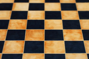 Edle Schachspiele kommen oft mit einem Salpa-Leder-Überzug daher.