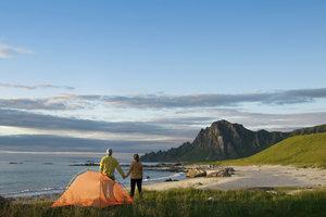Zelten direkt am Strand ist in Holland nicht möglich.