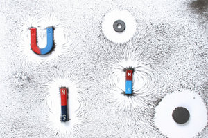 Magnete umgeben sich mit einem Kraftfeld.