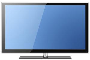 Der LED-Fernseher verbraucht wenig Strom.