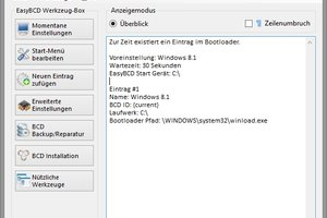 EasyBCD macht Bootmenü-Anpassungen einfach.