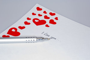 Ein Liebesbrief kommt fast immer gut an.