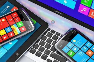 Windows 8 können Sie auf einem PC und auf mobilen Geräten nutzen.