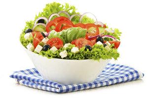 Salat ist gesund und lecker.