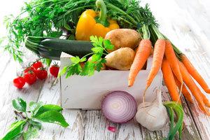 Sie können jeden Tag gesundes Gemüse essen.
