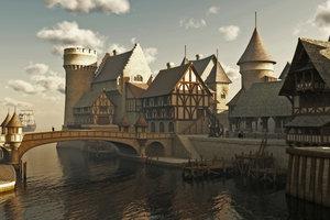 Vom Mittelalter geprägte Architektur ist in den USA höchstens als Nachbau zu finden.