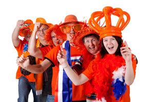 Die Fans der Elftal sind traditionell in Orange gekleidet.