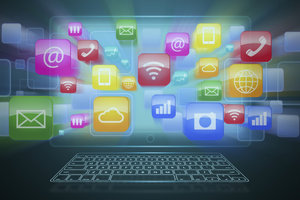 Apple TV bietet Ihnen den Zugang zum Internet über verschiedene Apps.