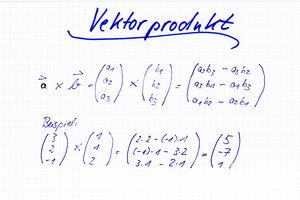 So berechnen Sie das Vektorprodukt.