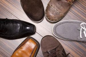 Schuhe aus Leder sind luftdurchlässig und feuchtigkeitsregulierend.