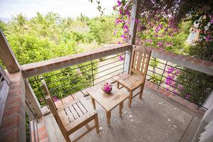 Bereits ein kleiner Balkon kann gemütlich sein.
