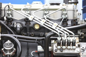 Charakteristisch beim Diesel sind die Einspritzleitungen.