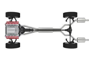 Der Auspuff ist wichtig für die Leistung des Motors.