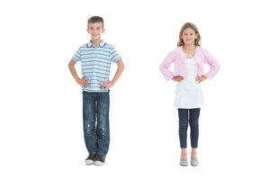 Mädchen oder Junge? Mit dem richtigen Styling ist das leicht zu unterscheiden.