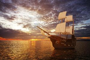Frodo reist mit dem Schiff nach Valinor.
