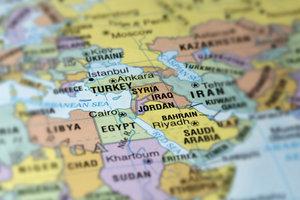 Der Nahe Osten ist der Bereich östlich des Mittelmeers.