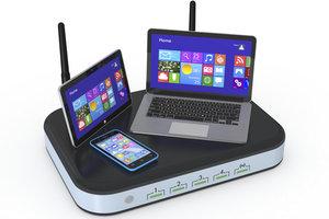 Router und Switches ermöglichen den virtuellen Datenaustausch.