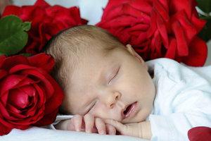 """Mit dieser Decke """"betten"""" Sie Ihr Baby auf Rosen."""