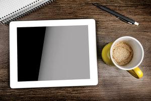Auf dem Tablet können Sie eine vollwertige Präsentation erstellen.