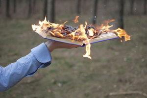 """""""Die Bücherverbrennung"""" thematisiert einen realen Zeitzusammenhang."""
