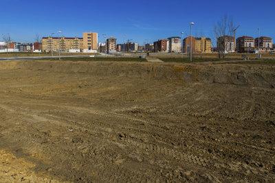 Grundstücksteilung zur Gewinnung von Baugrund.