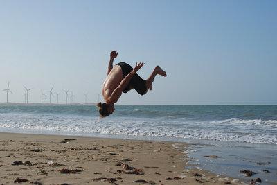 Saltos lassen sich durch Training und Aufmerksamkeit perfektionieren.