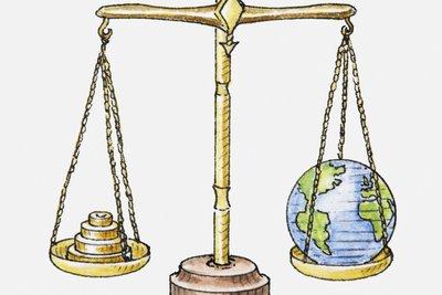 Die Erde passt nicht auf eine Waage.