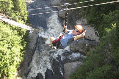 Schwindelfreiheit ist eine Grundvoraussetzung bei den Klettersteigen.