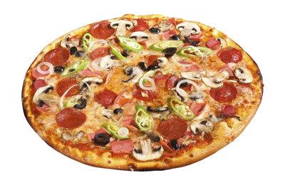 Pizza - lassen Sie Ihrer Kreativität beim Belegen freien Lauf.
