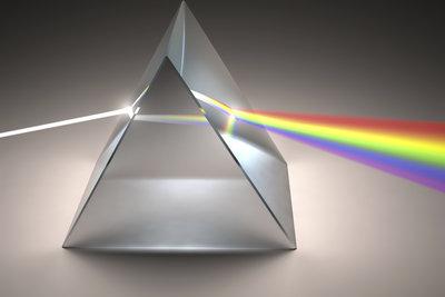 Weißes Licht enthält alle Spektralfarben.