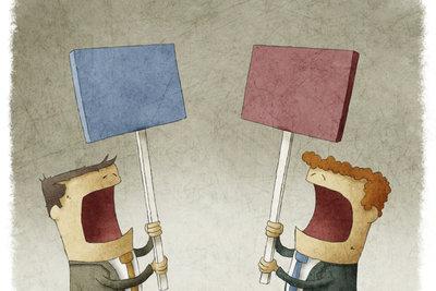 Wer Opposition bezieht, vertritt eine andere Meinung.