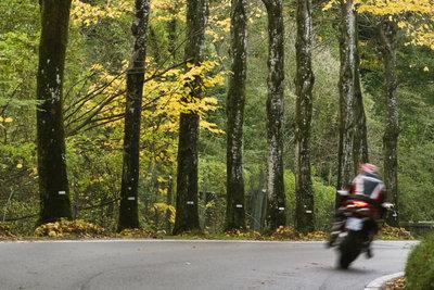 Jede Kurve ist für den Motorradfahrer eine Herausforderung.