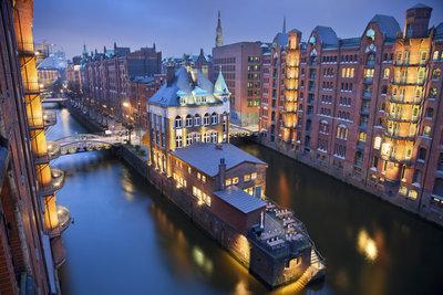 Die Speicherstadt von Hamburg ist einen Besuch wert.