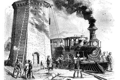 """Die Eisenbahn ist zentrales Dingsymbol in Hauptmanns """"Bahnwärter Thiel""""."""