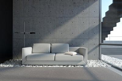 Steinteppiche und Kieselsteinteppiche sind eine Variante für den Innenbereich.