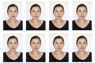 Biometrisches passbild schminken