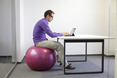 Ein Sitzball ist nicht immer die optimale Lösung.