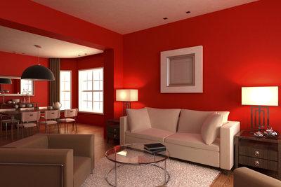 Kombiniert mit dezenten Farben wirkt rot modern und aufregend
