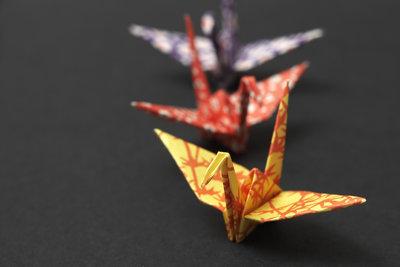 Der Origami-Kranich ist bei Anfängern beliebt.
