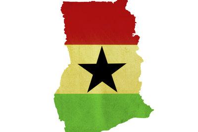 Ghana liegt im Westen Afrikas.