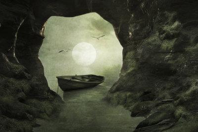 """Nachts in einer Höhle hilft der Schwierigkeitsgrad """"peaceful"""" Minecraft-Spielern beim Überleben."""