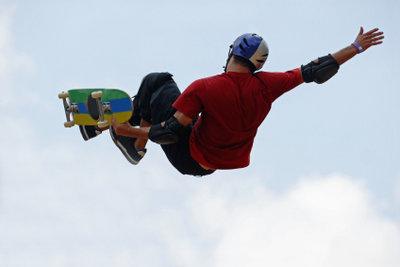 Der Umgang mit dem Skateboard sollte gut geübt werden.