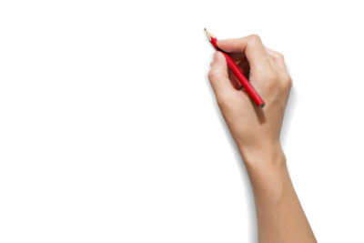 """Mit Stift und Papier ist schnell ein Daumenkino - """"Film"""" gezeichnet."""