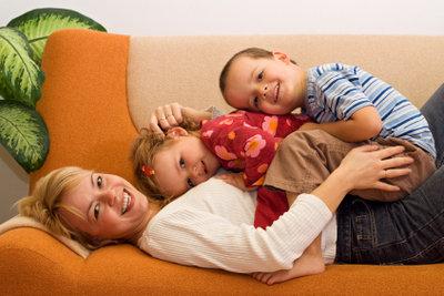 Saubere Polstergarnitur, da freut sich die Familie.