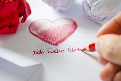 Ein Liebesbrief ist immer eine gute Idee.