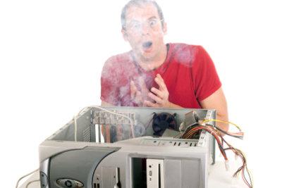 Die Überhitzung des Computers kann zu schweren Hardwareschäden führen.