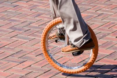 Einrad fahren will gelernt sein!