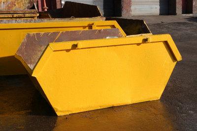 Bei der Wohnungsauflösung müssen Sie unbedingt einen Container für Sperrmüll vor Ort haben