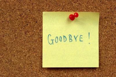 Einen Abschiedsbrief an die Kollegen zu verfassen, gehört zum guten Ton.