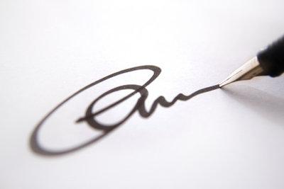 Jede Unterschrift hat ihre ganz persönliche Note, die Fälschungen entlarvt.